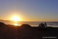 Sonnenuntergang am Famara Strand Lanzarote