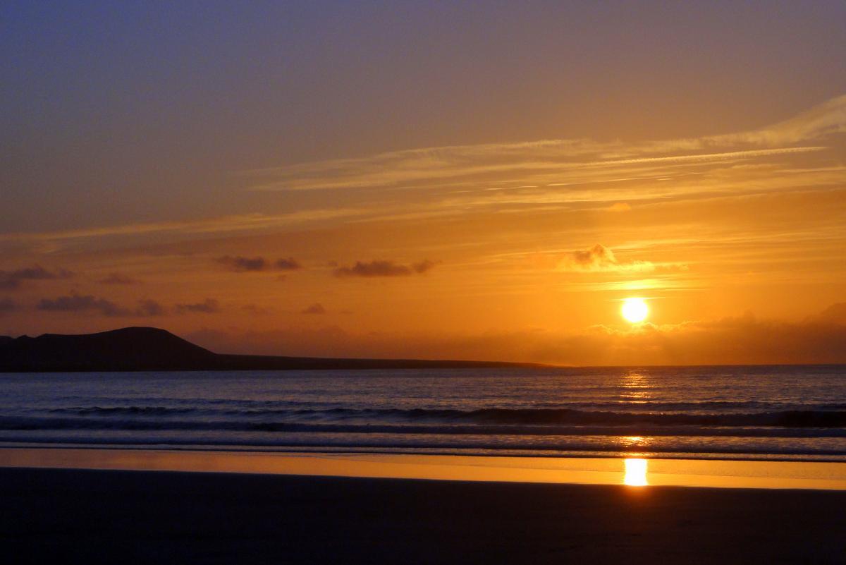 Wanderung Lanzarote Famara Sonnenuntergang