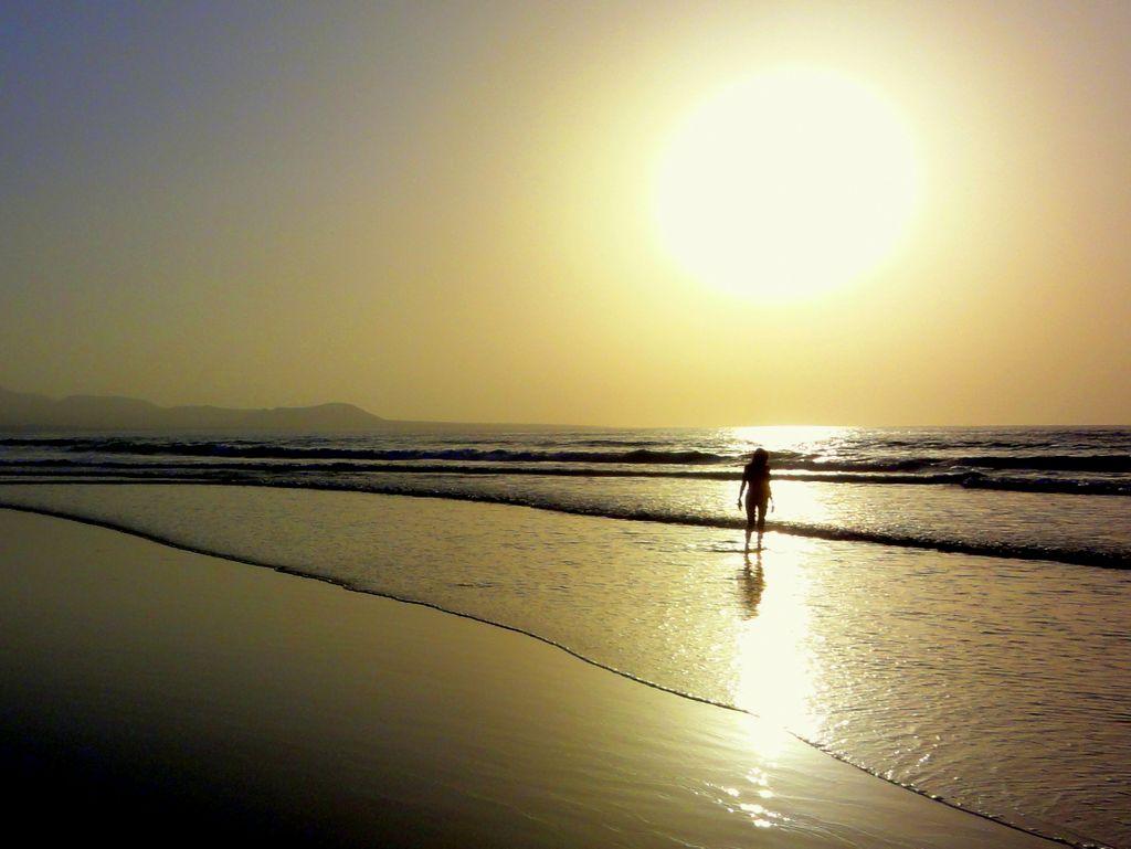 Famara Strand mit Kalima auf Lanzarote