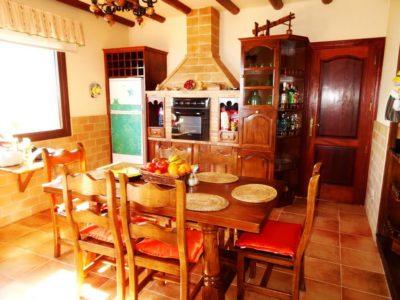 Ein Essbereich von Luxusvilla in La Asomada